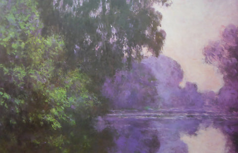 Branch of the Seine Near Giverny Claude Monet 1986 Portal Publications (Genuine and Vintage) Crate3 B10