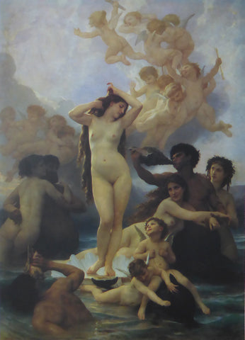 Birth of Venus William Bouguereau (1991 Felix rosenstiels Widow & Son) (Genuine and Vintage)