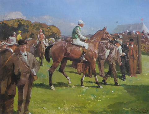 At Hethersett Races Sir Alfred Munnings (1982 Royle Publications) (Genuine and Vintage)