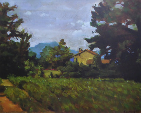 Farmhouse South of France David Schock (1991 Art Beats) (Genuine and Vintage)