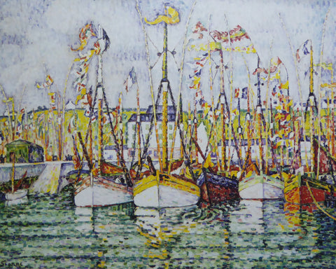 Blessing of the Tuna Fleet at Croix Paul Signac  (Genuine and Vintage)