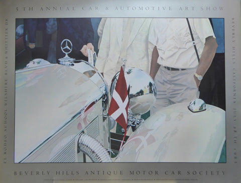 Flying Colours Beverly Hills Antique Motor Car Society (damaged) (1985) (Genuine and Vintage)