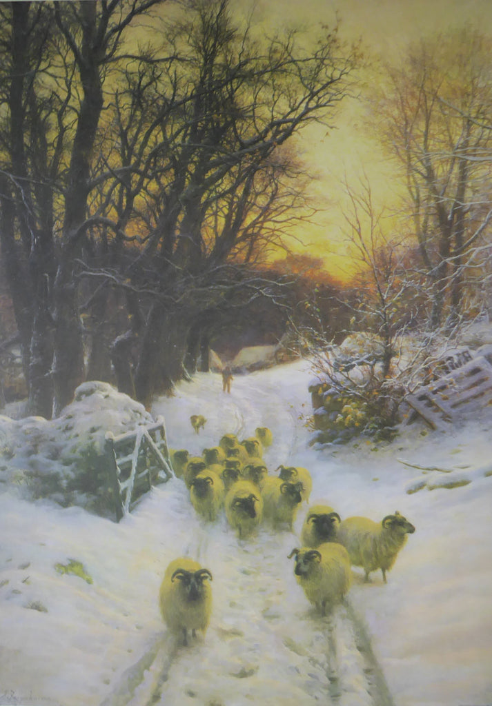 The sun has closed the winters day Joseph Farquharson (Genuine and Vintage)