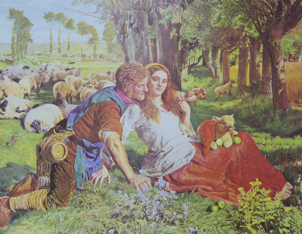 The hireling Shepherd William Holman Hunt (Dyad) (Genuine and Vintage)
