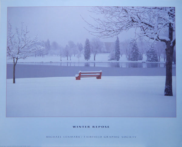 Winter Repose Michael Lenmark 1988 Fairfield Graphic Society (Genuine and Vintage) Crate3 B8