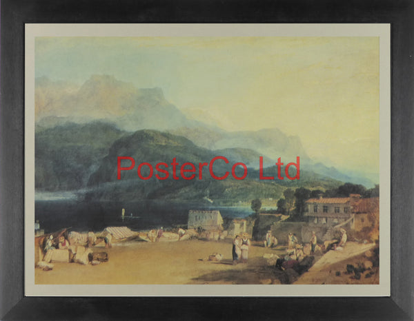 "Lake of Brienz - Joseph Mallord William Turner - Framed Print - 12""H x 16""W"
