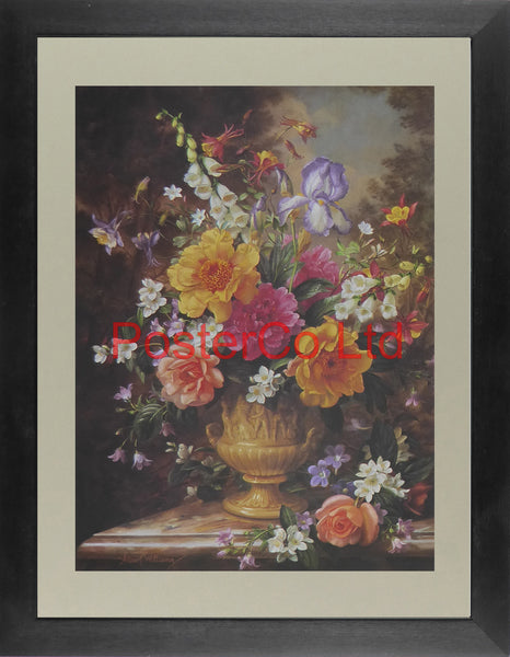 "Nature's Glory IV (Flowers) - Albert Williams -	FelixRose 1993 - Framed Print - 16""H x 12""W"