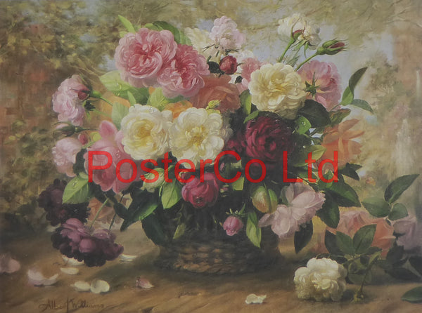 "Nature's Glory I (Flowers) - Albert Williams - FelixRose 1993 - Framed Print - 12""H x 16""W"
