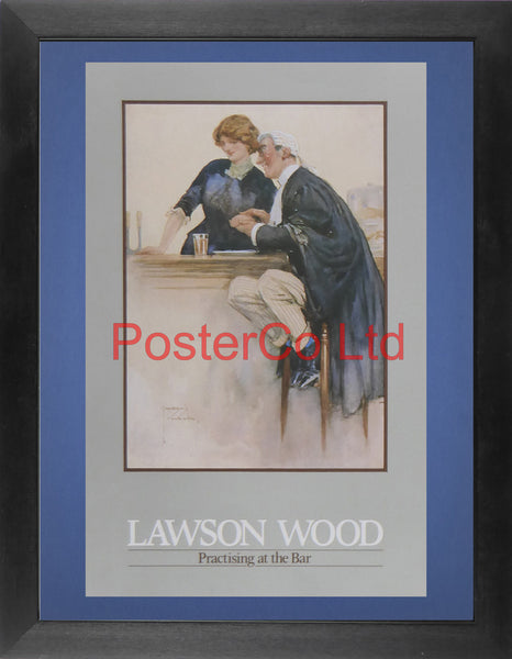 "Practising at the Bar - Lawson Wood - Felix Rose 1986 - Framed Print - 16""H x 12""W"