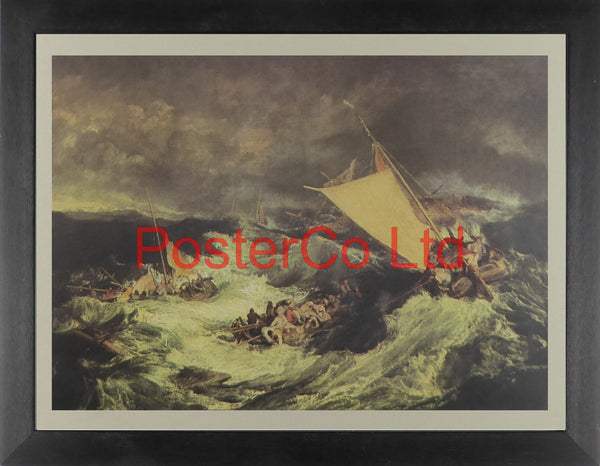 "The Shipwreck: Fishing Boats rescuing the crew - Joseph M.W.Turner - Framed Print - 12""H x 16""W"