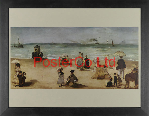 "On the Beach at Boulogne - Edouard Manet - Framed Print - 12""H x 16""W"