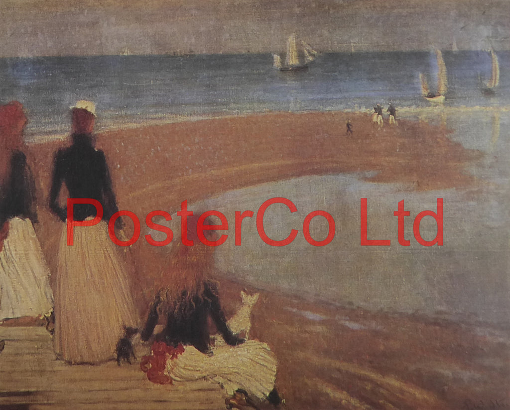 "The Beach at Walberswick - Philip Wilson Steer - Framed Print - 12""H x 16""W"