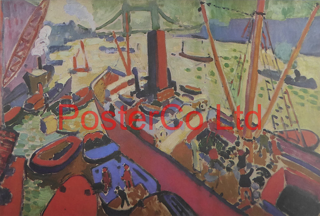 "The Pool of London - Andre Derain - Framed Print - 12""H x 16""W"
