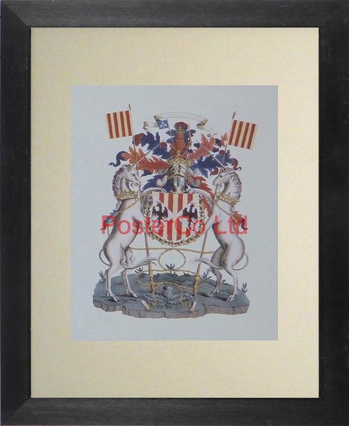 "Heraldry or Coat of Arms - Framed Print - 14""H x 11""W"