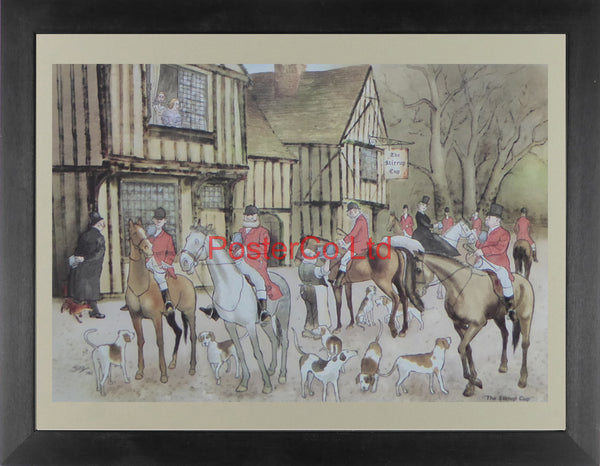 "The Stirrup Cup (Hunt scene) - Framed Print - 12""H x 16""W"