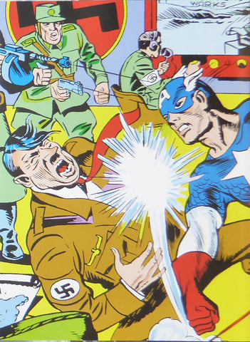 Captain America vs Hitler (Marvel Comics)    Comic Cover Art
