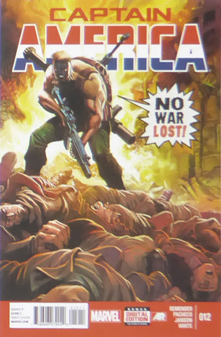 Captain America   No War Lost (Marvel Comics)    Comic Cover Art