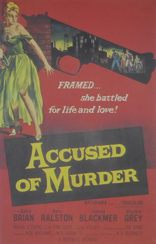 Accused of Murder David Brian  Movie Poster
