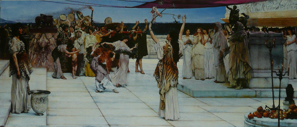 A DEDICATION TO DACCHUS Alma Tadema