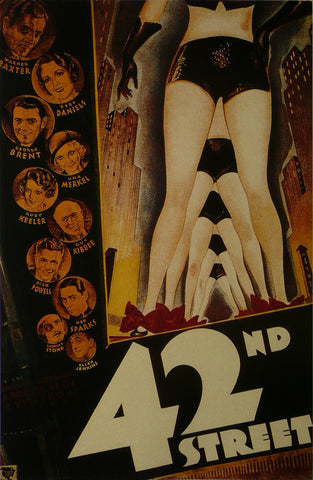 42nd Street Warner Baxter / Bebe Daniels  Movie Poster