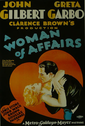 A Woman of Affairs John Gilbert / Greta Garbo  Movie Poster
