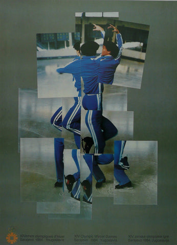 XVI Olympic Winter Games  1984 fragmented skater David Hockney