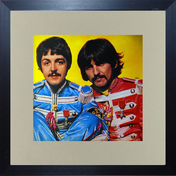 Paul McCartney & George Harrison (Sgt Peppers Lonely Heartclub Band) (Album Cover Art) Framed Print