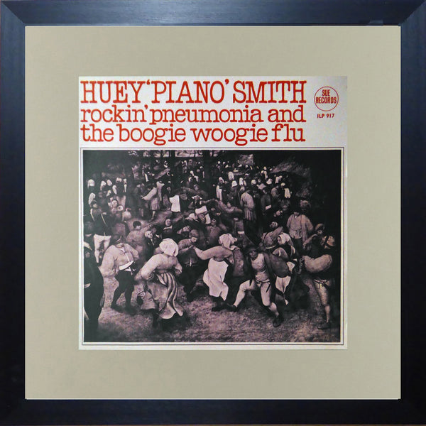 Huey 'piano' Smith Rockin' pneumonia and the boogie woogie flu (Album Cover Art) Framed Print