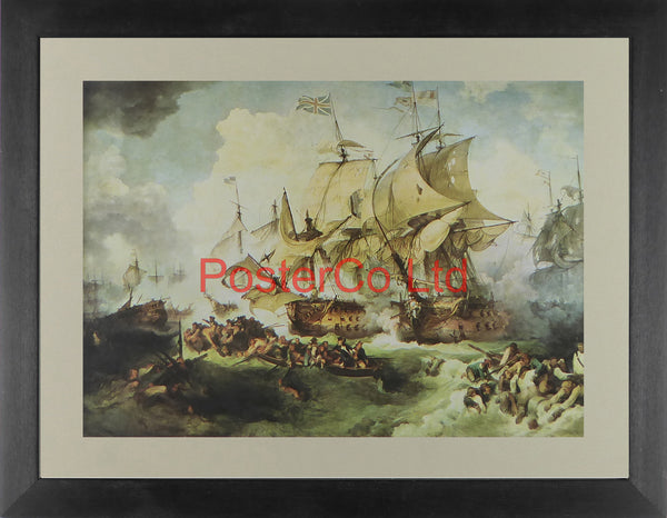 "Battle of the First of June | Lord Howe's Action - (Chevron History series) - Framed Print - 12""H x 16""W"