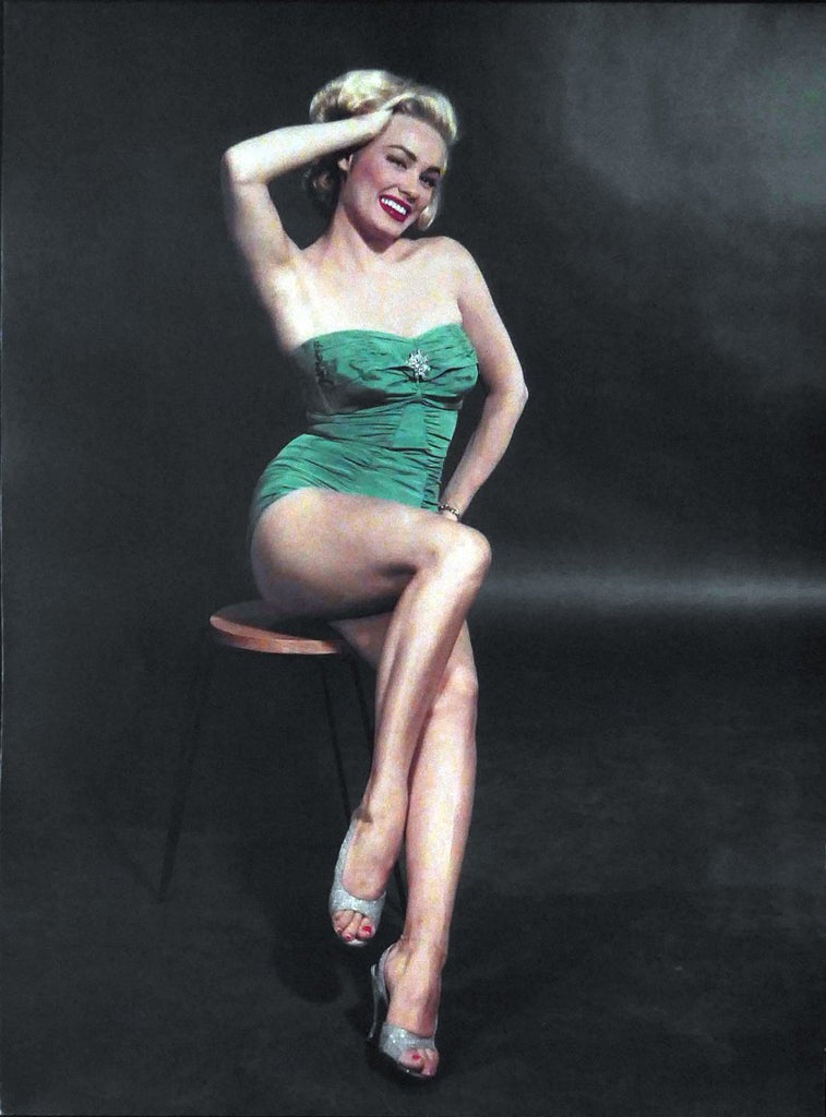 Mamie Van Doren in Green swinsuit