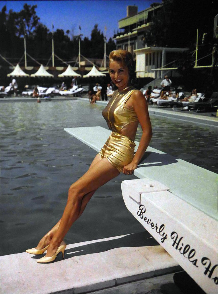 Janet Blair in a Gold Bikini