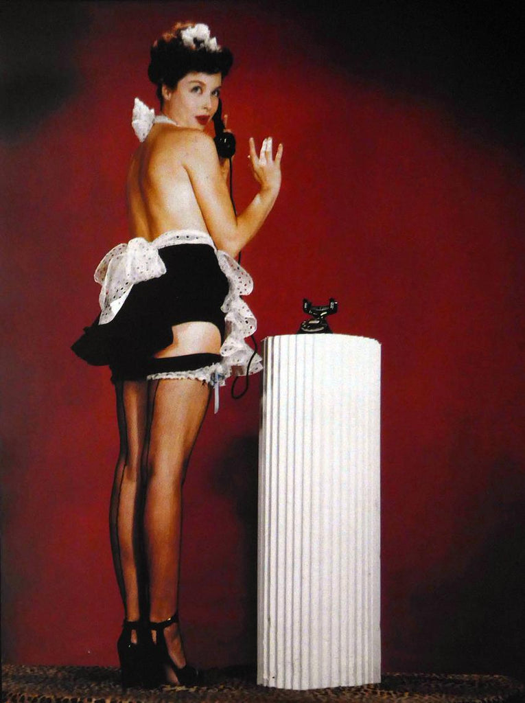unknown french maid Pinup