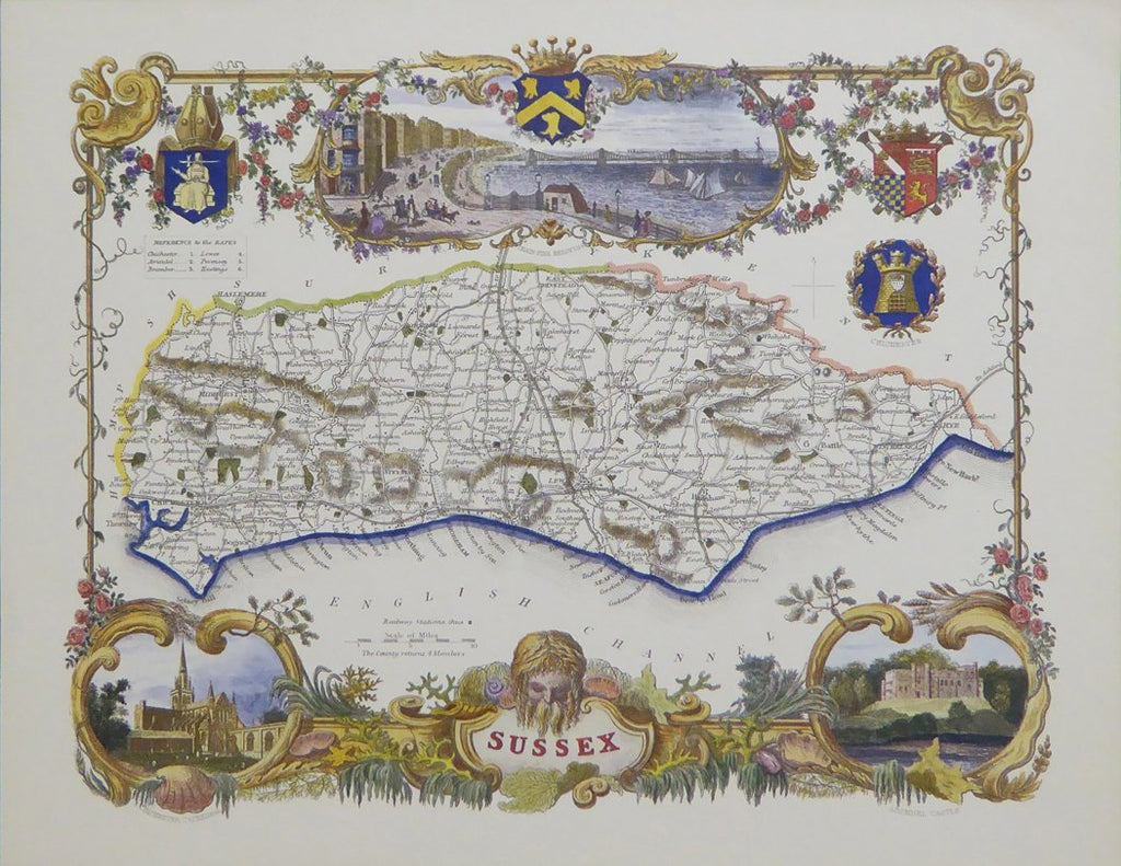 Sussex map