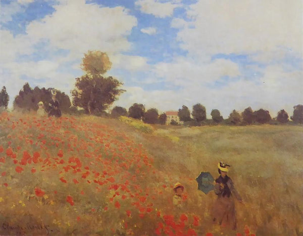 Poppy field near Argenteuil Oscar Claude Monet