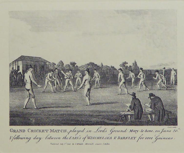 Grand cricket match played in Lord's ground Mary le bone June 20th