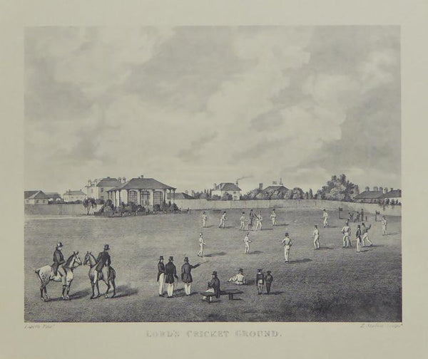 Lord's cricket ground (with pavilion and horses)
