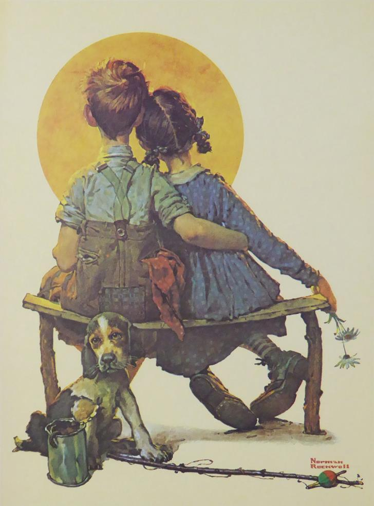 The Little Spooners (2)  Norman Rockwell
