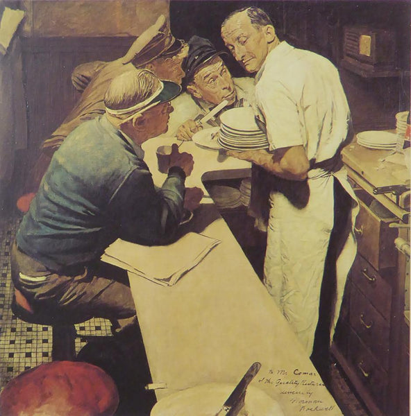 "Norman Rockwell ""War News"""