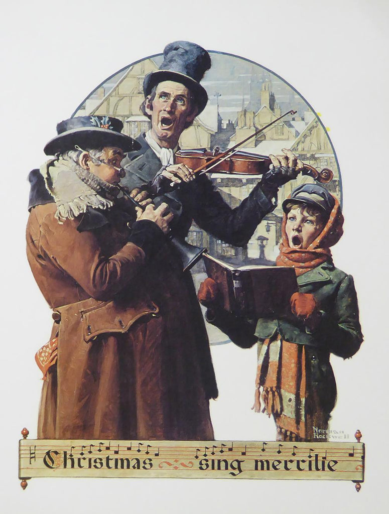 "Norman Rockwell ""Christmas Trio"""