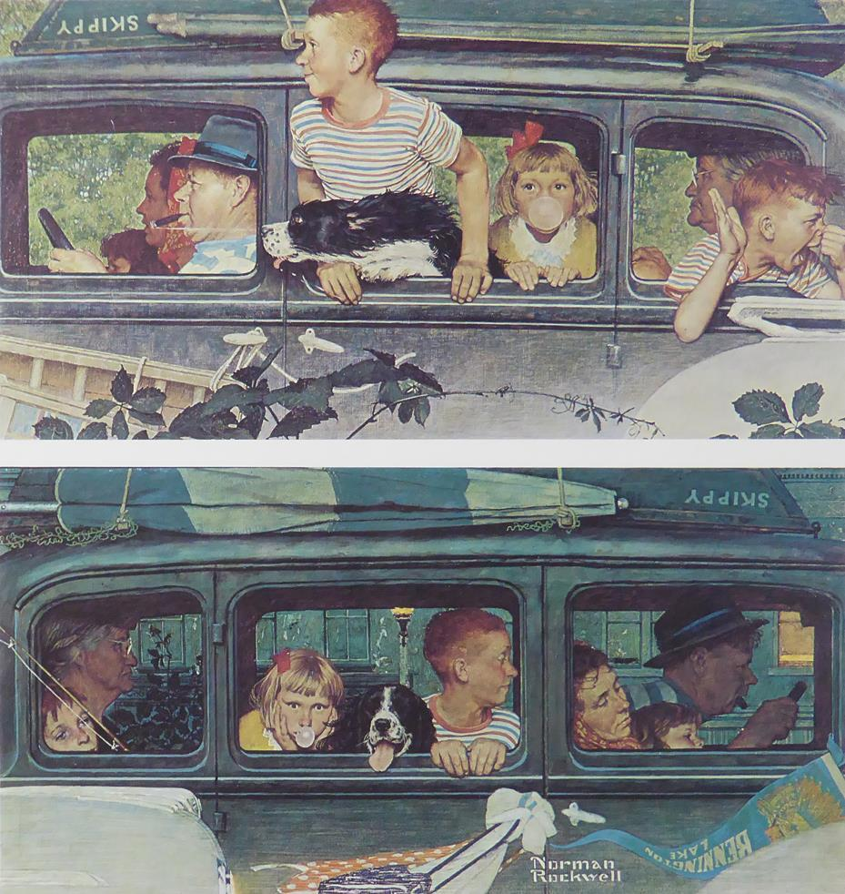 "Norman Rockwell ""Going and Coming"""