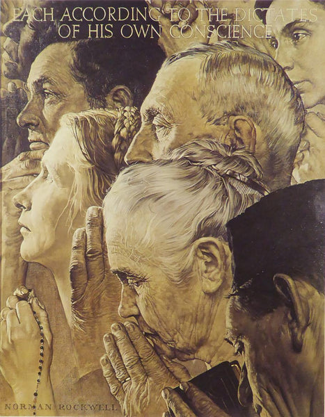 "Norman Rockwell ""Freedom to Worship"""