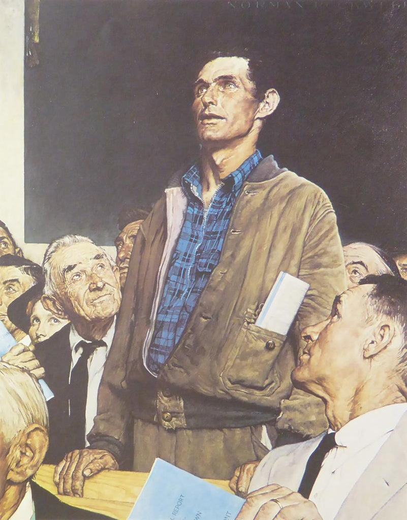 "Norman Rockwell ""Freedom of Speech"""