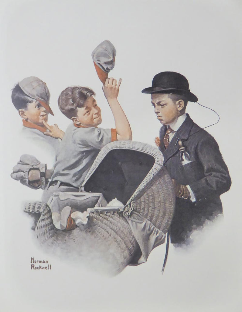"Norman Rockwell ""Boy with Baby Carriage"""
