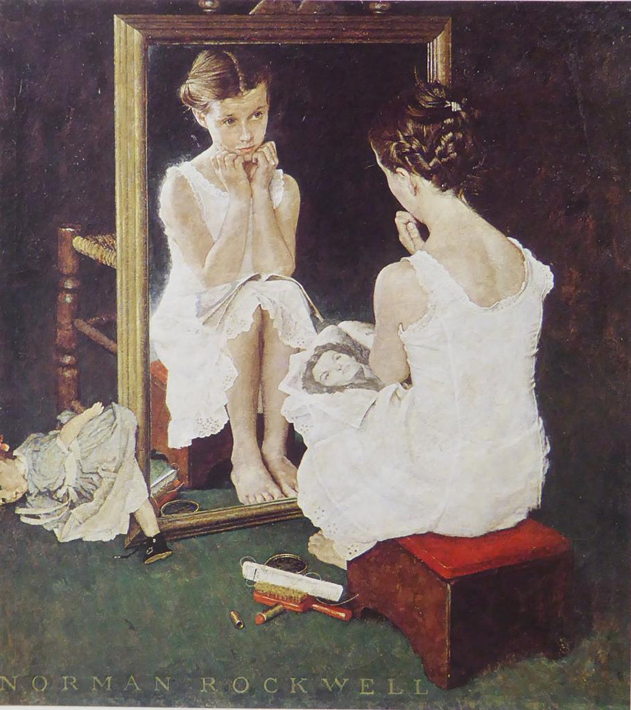 "Norman Rockwell ""Girl at Mirror"""