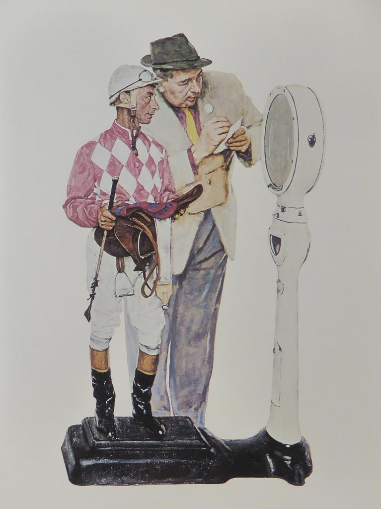 "Norman Rockwell ""Weighing in"" (Jockey)"