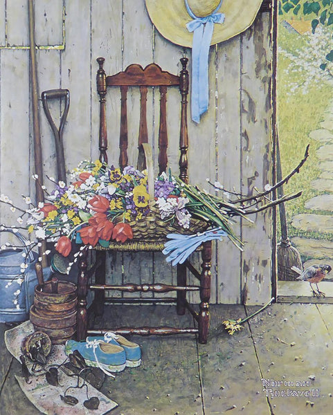 "Norman Rockwell ""Spring Flowers"""