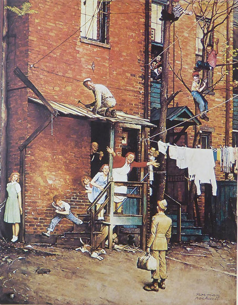 "Norman Rockwell ""The Homecoming"""
