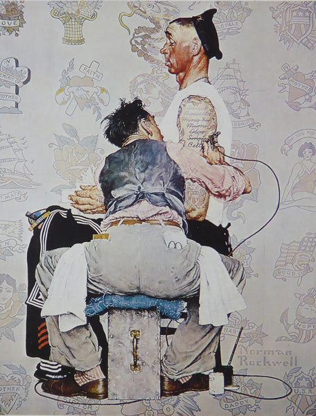 "Norman Rockwell ""Tattooist"" F21"