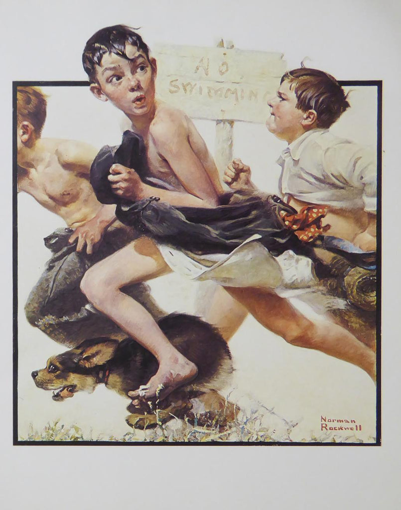 "Norman Rockwell ""No swimming"""