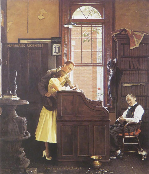 "Norman Rockwell ""Marriage license"""